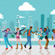 Young People Dancing In a City - GraphicRiver Item for Sale