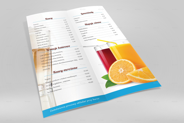 a4 half folded menu card mockup by nishima graphicriver