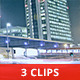 Fast Traffic in Modern City by Night (3-Pack) - VideoHive Item for Sale