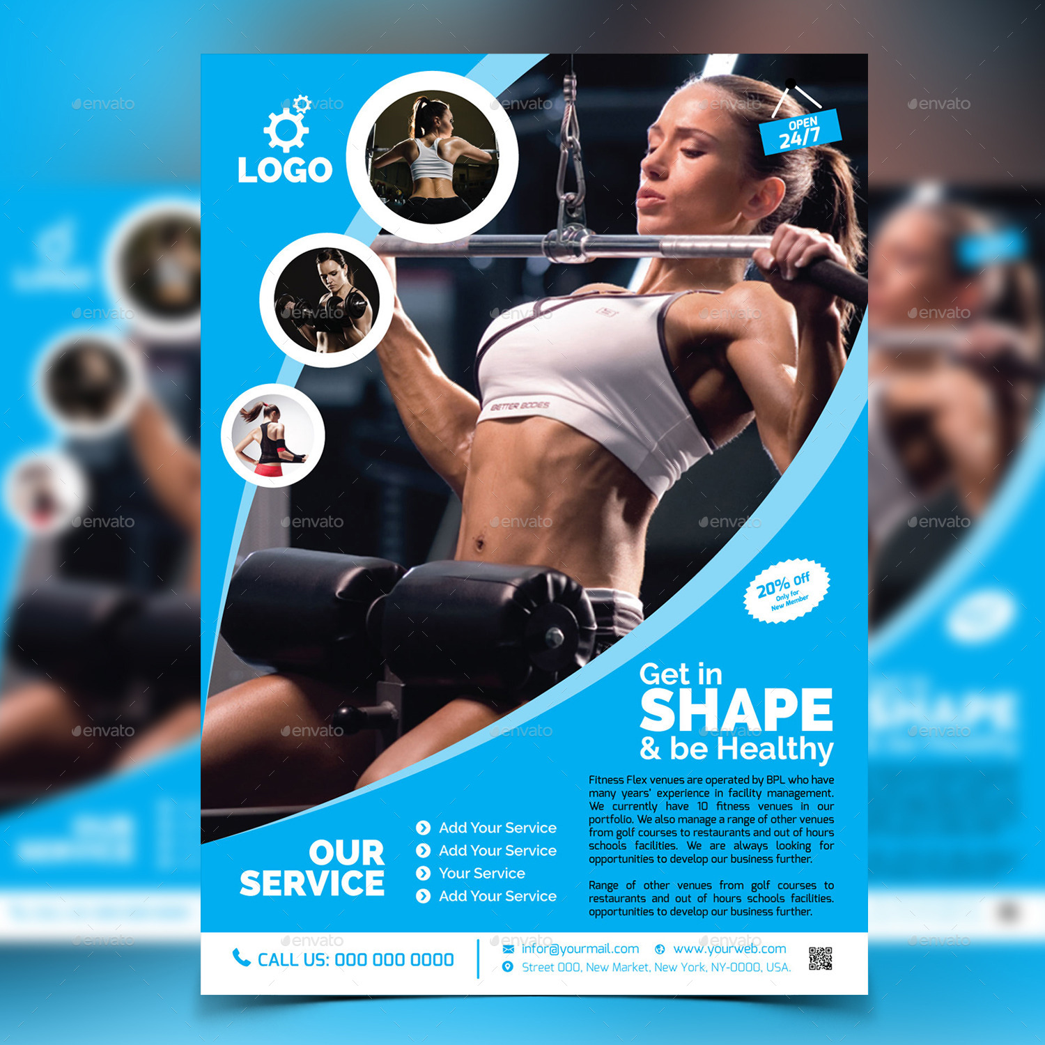 Great Fitness Gym Flyer Template V2 By Aam360 Graphicriver .