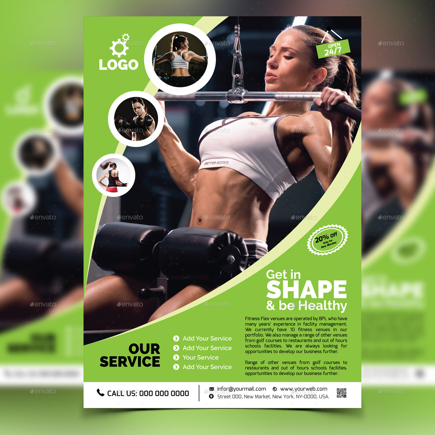Free Fitness Gym Flyer Template Psd Files And Free Church: Fitness / Gym Flyer Template V2 By Aam360