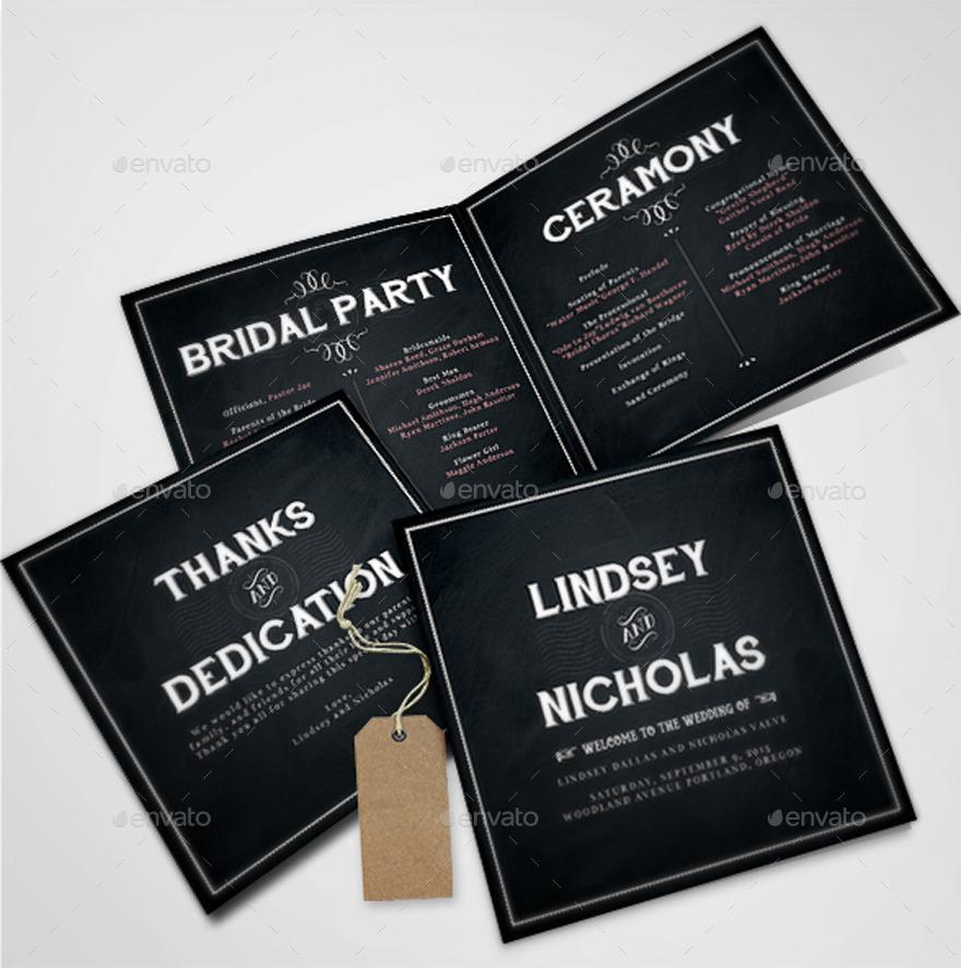 Chalkboard Wedding Invitations By BNIMIT