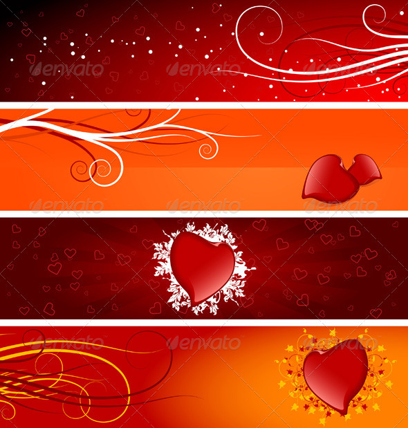 Valentines Day Banners - Valentines Seasons/Holidays