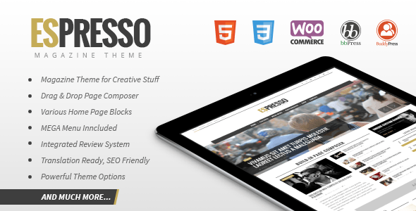 ESPRESSO – Magazine / Newspaper WordPress Theme