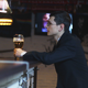 Man Drinking Beer in a Pub - VideoHive Item for Sale