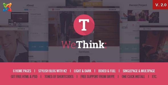Wethink – Single&Multi Page Joomla Theme