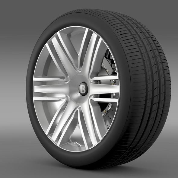 Bentley Continental GTC 2015 wheel - 3DOcean Item for Sale