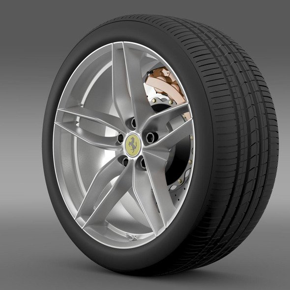 Ferrari 488 GTB 2015 wheel - 3DOcean Item for Sale
