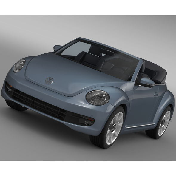 VW Beetle Cabriolet Denim Concept 2015 - 3DOcean Item for Sale