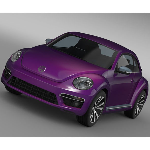 VW Beetle Pink Edition Concept 2015 - 3DOcean Item for Sale