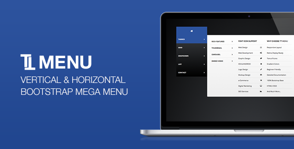 TT Menu - Vertical Horizontal Bootstrap Mega Menu - CodeCanyon Item for Sale