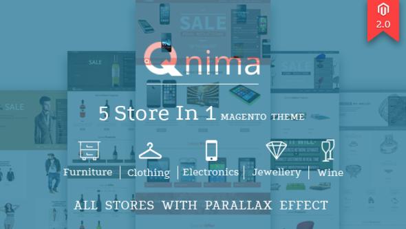 Qnima – Versatile & Responsive Magento Theme