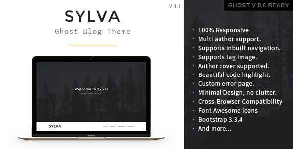 Sylva – Responsive Minimal Ghost Theme