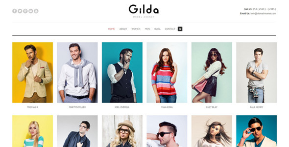 Gilda – Fashion Model Agency WordPress CMS Theme