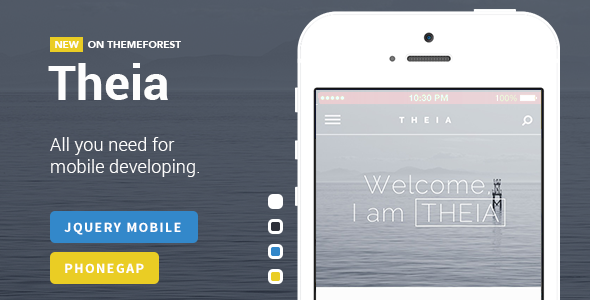 Theia | Multipurpose jQuery Mobile Template