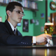 Man Drinking Beer in the Bar - VideoHive Item for Sale