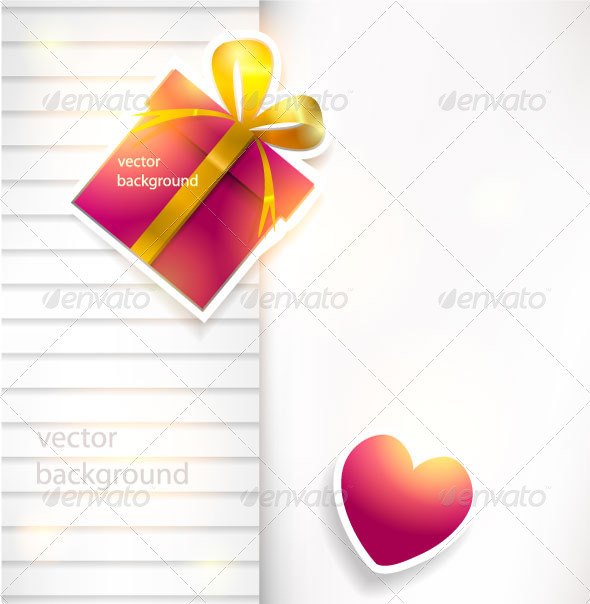 Romantic Vector Paper Background  - Valentines Seasons/Holidays