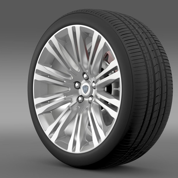 Lancia Thema 2014 wheel - 3DOcean Item for Sale