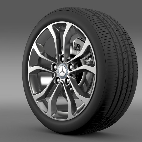 Mercedes Benz C 220 wheel - 3DOcean Item for Sale