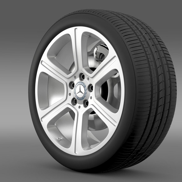 Mercedes Benz C 300 Exclusive line wheel - 3DOcean Item for Sale