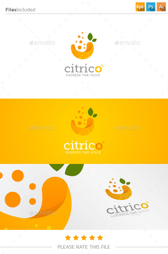 fresh juice logo by exedesign graphicriver