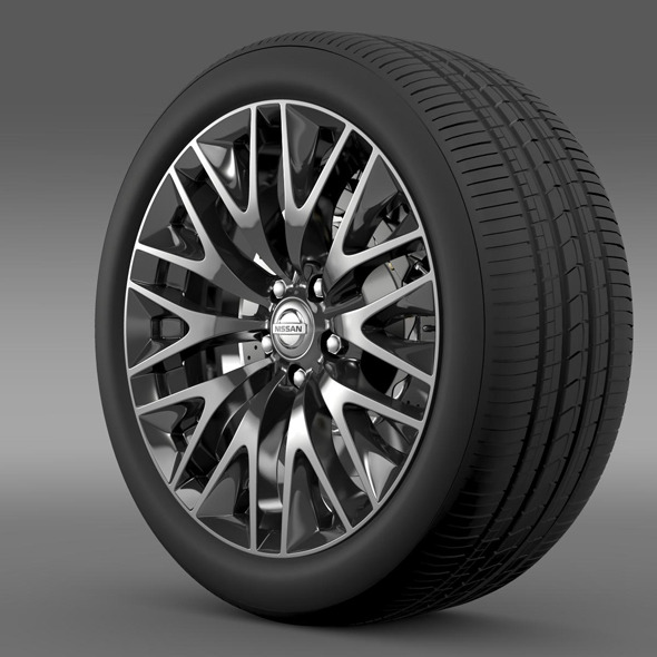 Nissan Cima Hybrid wheel - 3DOcean Item for Sale