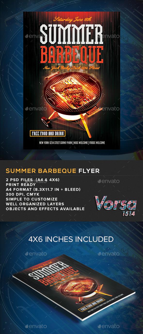Summer Barbeque Flyer