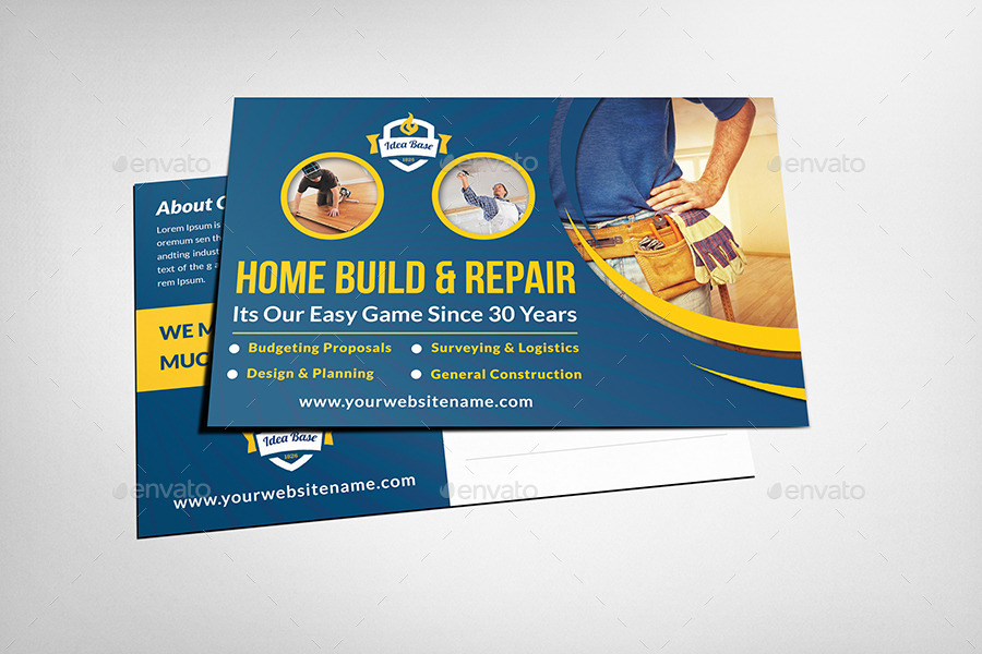 construction postcard template by owpictures
