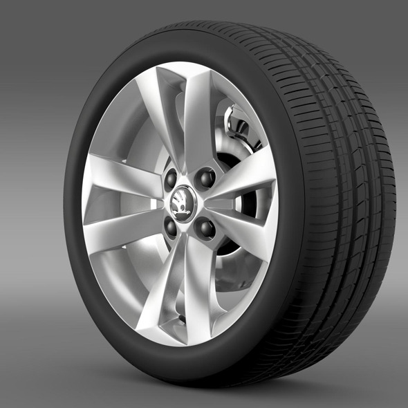 Skoda Citigo wheel - 3DOcean Item for Sale