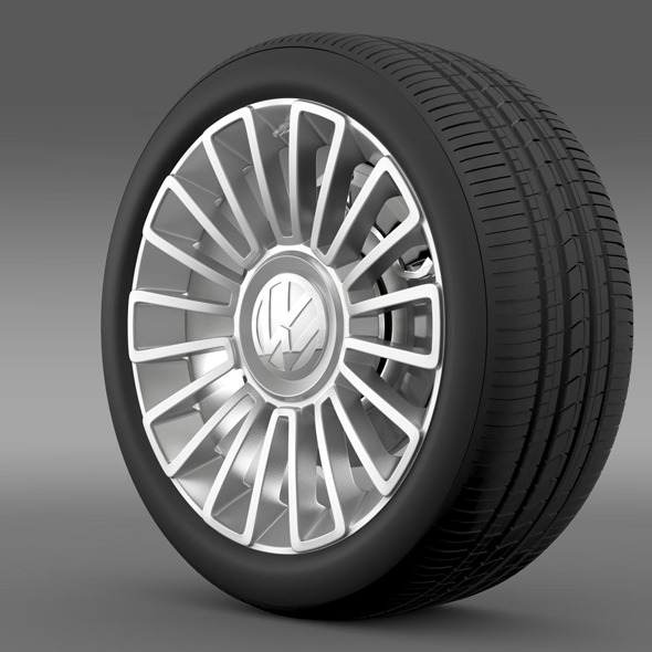 Volkswagen UP wheel - 3DOcean Item for Sale