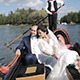 Wedding Couple Floating on a Gondola - VideoHive Item for Sale