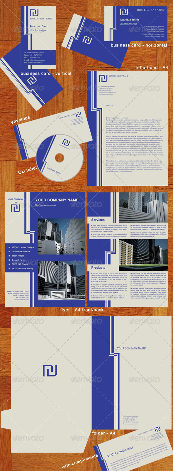 Corporate identity pack - Stationery Print Templates