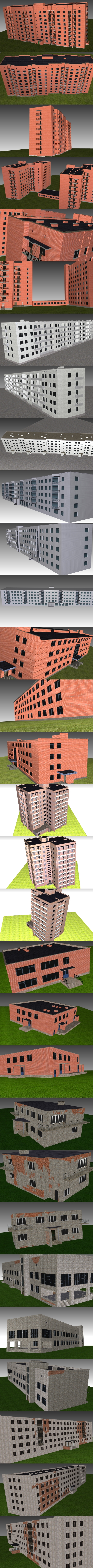 Building Super Package - 3DOcean Item for Sale