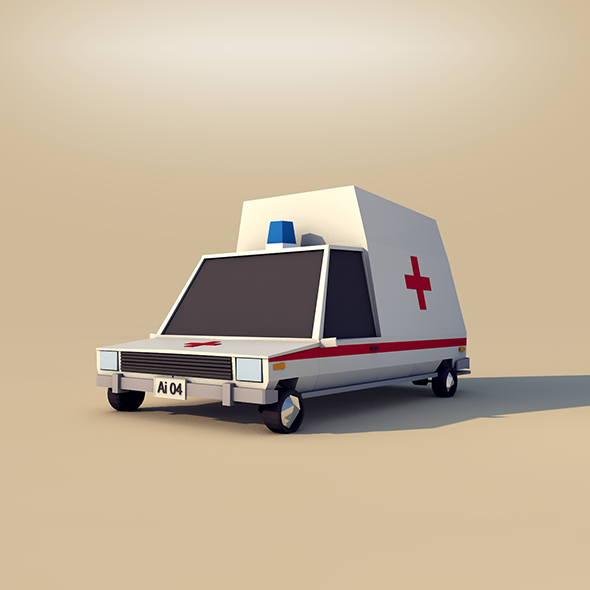 Cartoon Ambulance - 3DOcean Item for Sale