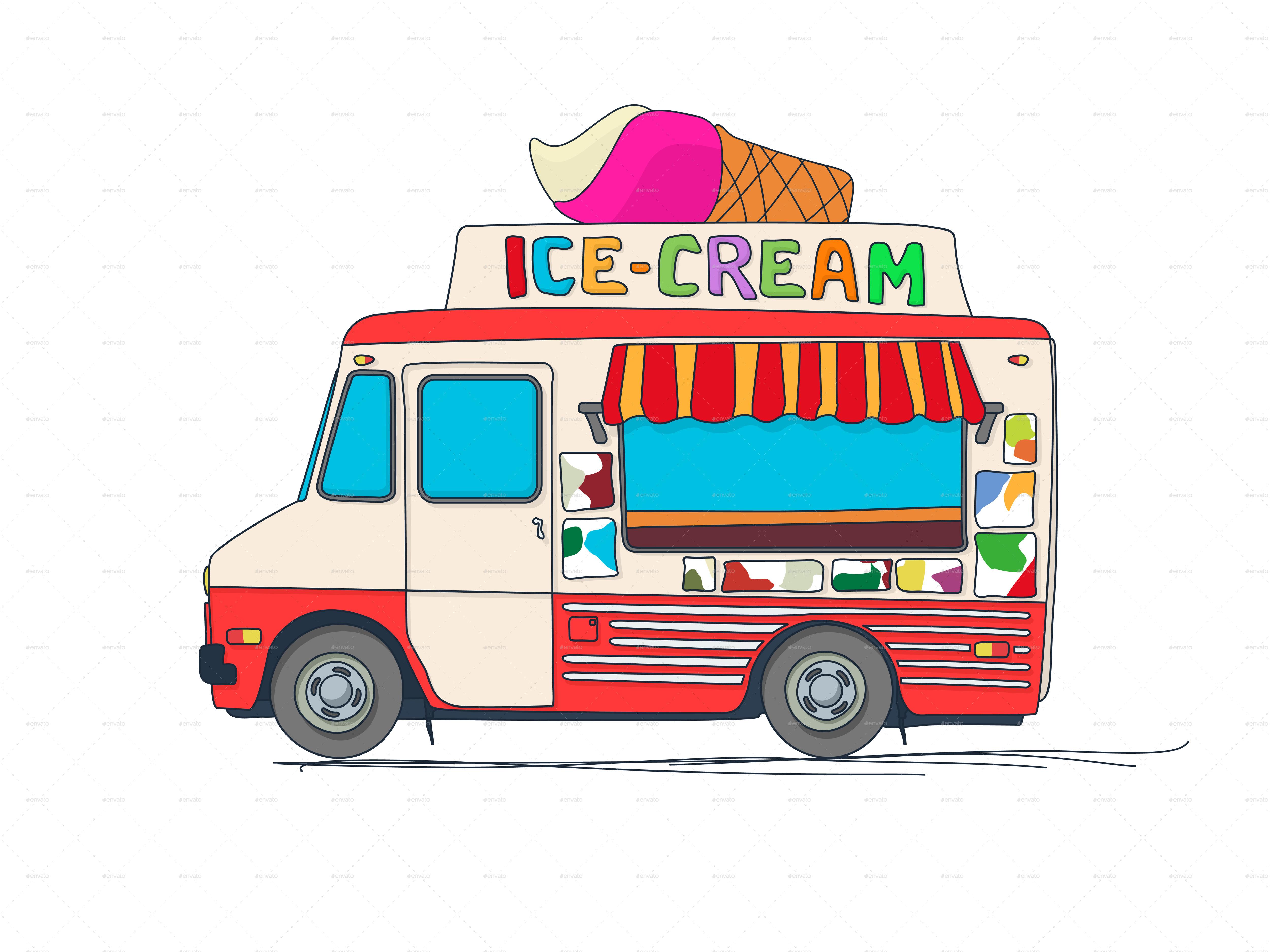 Cartoon Pictures Of Food Trucks