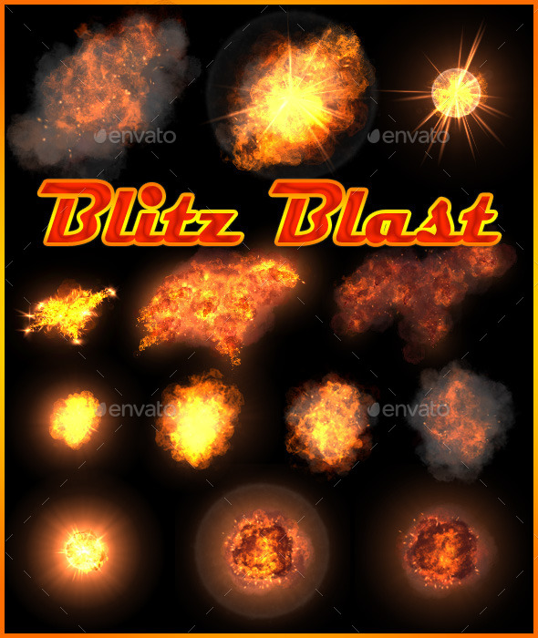 Blitz Blast - Sprites Game Assets