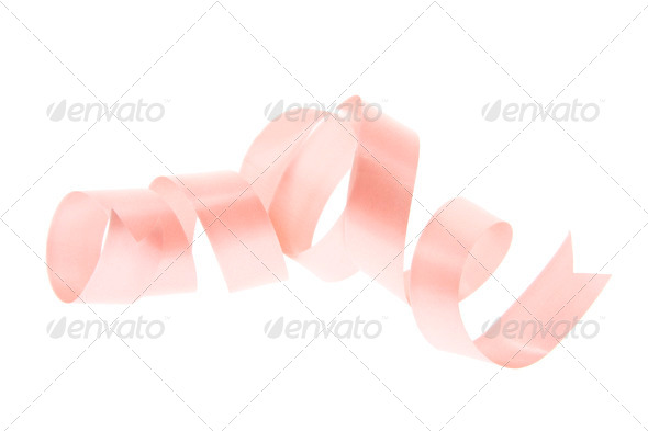 Pink Curling Gift Ribbon - Stock Photo - Images