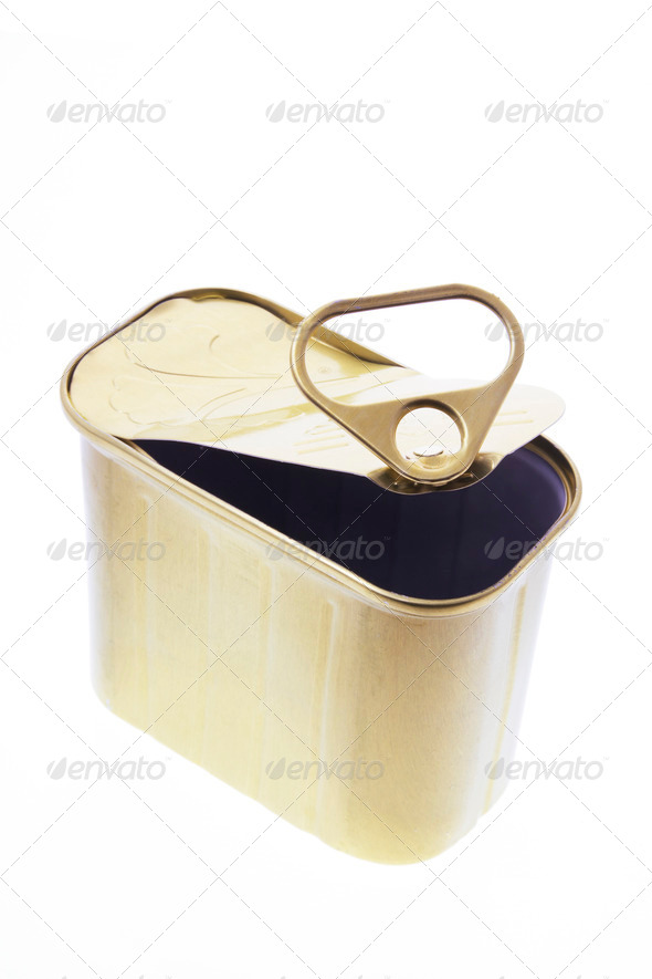 Empty Ring-Pull Tin Can - Stock Photo - Images