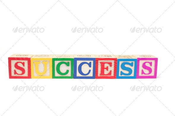 Alphabet Blocks - Success - Stock Photo - Images