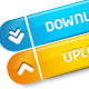 Colorful Quality Download/Upload Buttons - GraphicRiver Item for Sale