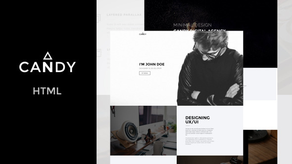 Candy | One & Multi Page HTML - Creative Site Templates