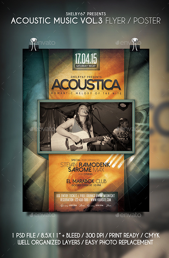 Acoustic Music Flyer / Poster Vol.3 - Events Flyers