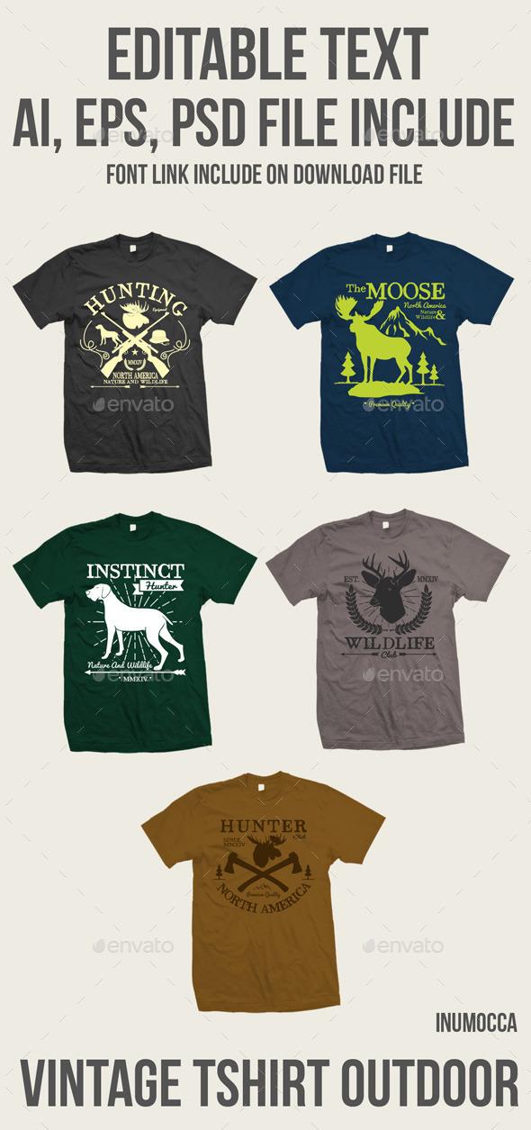 5 vintage tshirt Outdoor