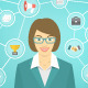 Modern Busines Woman Conceptual Infographics - GraphicRiver Item for Sale