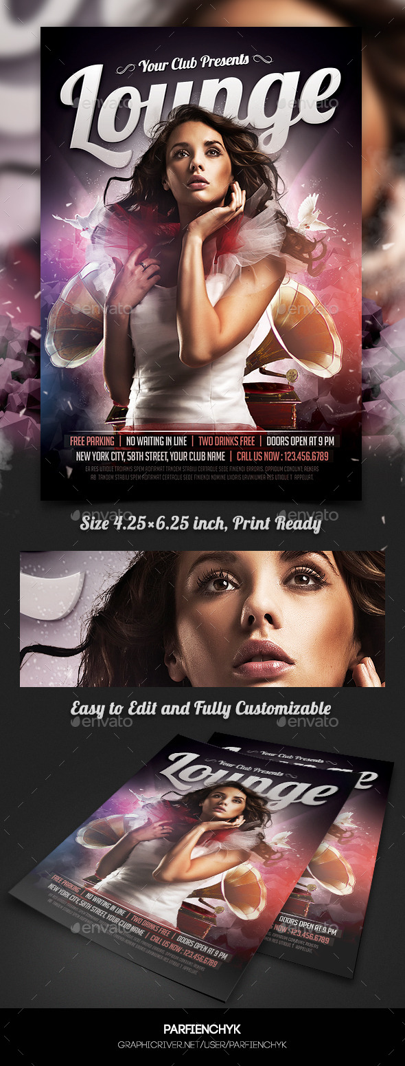 VIP Lounge Party Flyer Template - Clubs & Parties Events