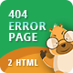 404 Error | CSS Animated Html Template  - ThemeForest Item for Sale
