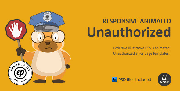 Unauthorized | CSS Animated HTML Template