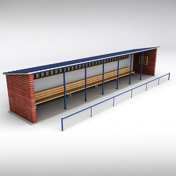 Baseball stadium dugout bench - 3DOcean Item for Sale