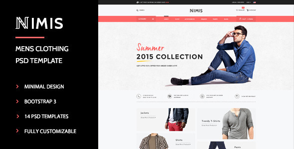 Nimis - eCommerce, Online Shop PSD Template - Shopping Retail