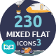 Mixed Flat Icons 3 - GraphicRiver Item for Sale